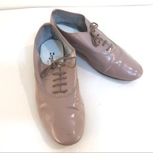 REPETTO blush nude oxford flat shoes 38 7.5 8